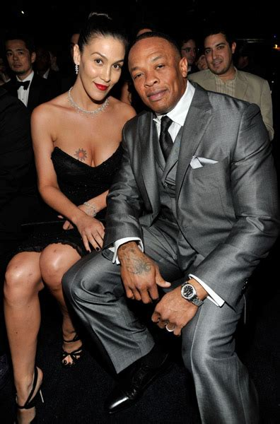 rap producer dr dre s wife nicole black and famous i just realized dr dre s current wife was in the quot let me