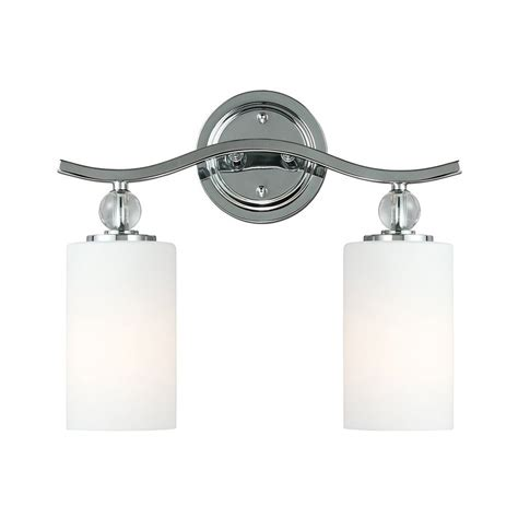 bathroom vanity lights chrome shop sea gull lighting 2 light englehorn chrome bathroom