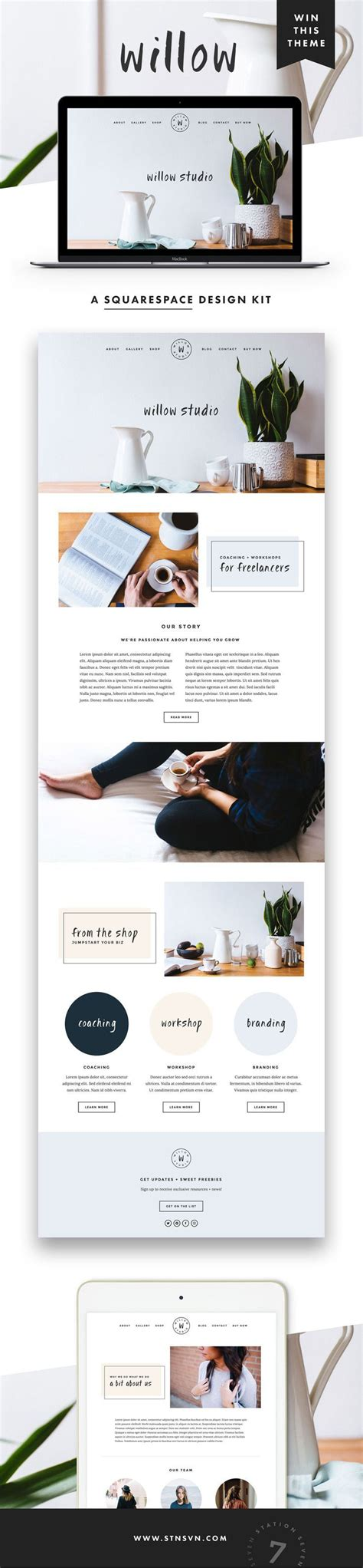 410 Best Images About Branding Inspiration On Pinterest Behance Logos And Business Card Design Feminine Squarespace Templates