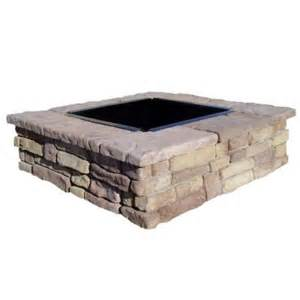pit blocks home depot fossill random brown square pit kit rbsfp