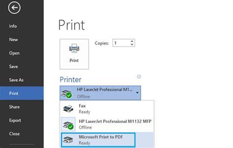 Pdf Windows 10 App Print by How To Enable Print To Pdf On Windows 10 Wondershare
