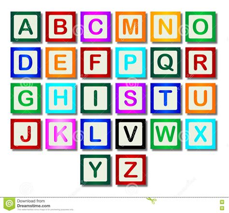 Letters Images wooden block letters a to z stock illustration image