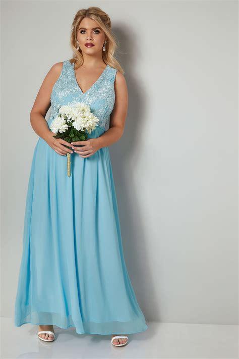 Sale Id 321 Faces Print Dress ax curve baby blau chiffon maxi kleid mit spitzen