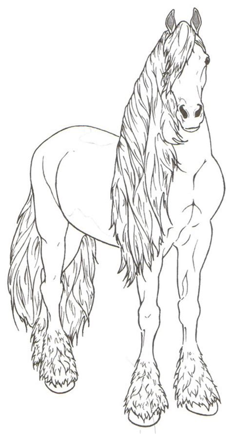 coloring pages of friesian horses how to draw friesian 1