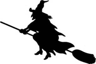 Witch Silhouette Template by Make Spooky Lanterns Decorations