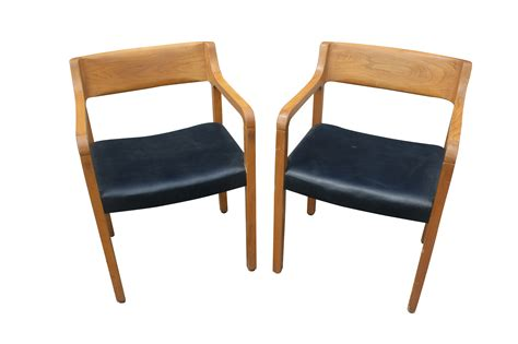 mid century modern furniture chair mid century modern krug wood arm chairs ebay