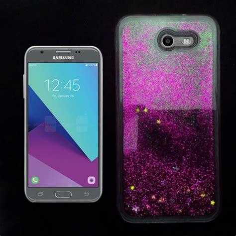 Glitter Samsung Galaxy J3 samsung galaxy j3 emerge j327 prime 2 pink liquid