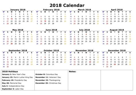 printable calendar 2018 in one page 2018 one page calendar printable max calendars