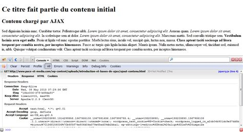 firebug console introduction et bases de ajax puce et m 233 dia