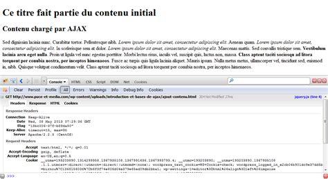 firebug console introduction et bases de ajax puce et m 233 dia