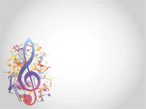 presentation templates for music colored music notes style ppt backgrounds music