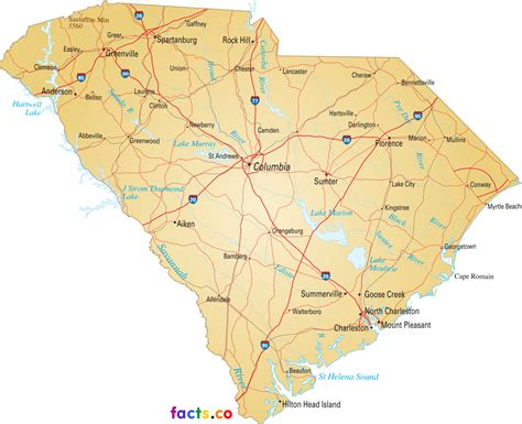 south carolina map south carolina map with capital pictures to pin on