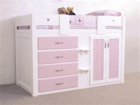 cabin beds for girls 4 drawer pink cabin bed clever small room for b pinterest pink cabin beds and