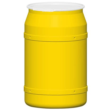 straight sided drum l 55 gallon yellow straight sided open head poly drum with