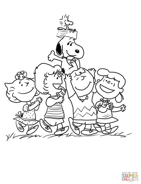 coloring book pages peanuts peanuts gang coloring page free printable coloring pages