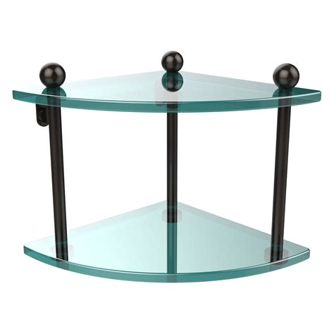 bronze bathroom shelf oil rubbed bronze double corner glass shelf allied brass