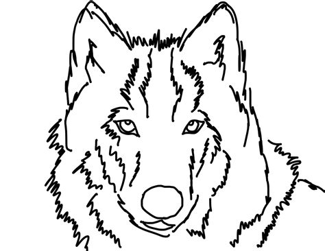 wolf outline tattoo simple wolf outline bamboodownunder