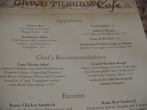 grand floridian room service menu lunch at the grand floridian cafe in walt disney world disney every day