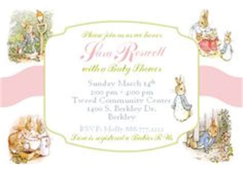 Rabbit Baby Shower Invitations Uk by 1000 Images About Beatrix Potter Shower On
