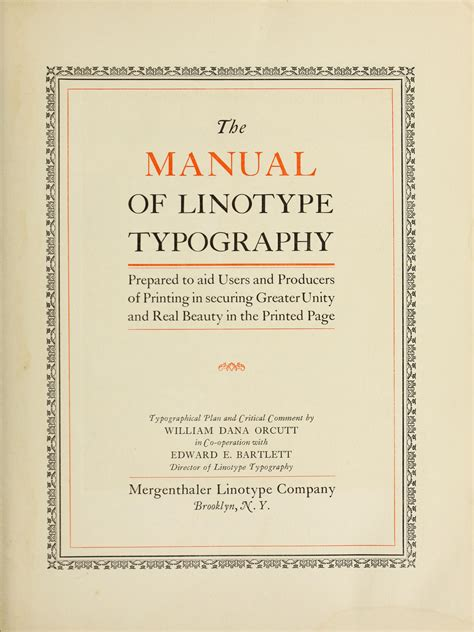 The Manual Of Linotype Typography Is Now Typographica
