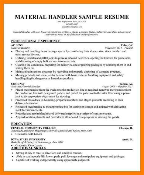 railroad resume keywords unforgettable package handler resume package handler resume material