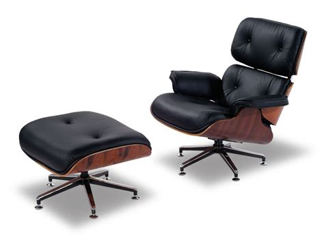 Black Leisure Recliner Eames Chair Lounge And Ottoman