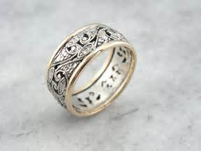filigree wedding band rejoice your unique bond of with vintage filigree wedding jewelry engagement ring