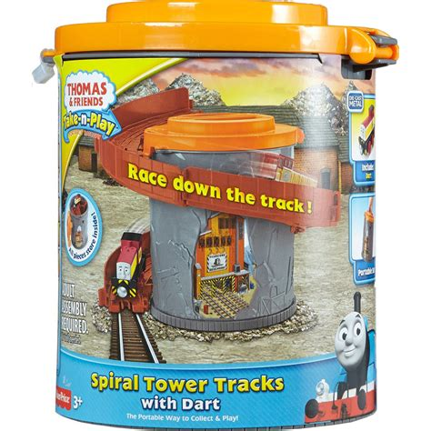 Friends Take N Play Spiral Tower Tracks With Cdn01 fisher price friends take n play spiral tower tracks with dart at hobby warehouse