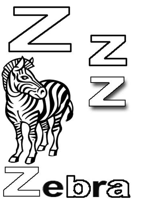 coloring book pages z free alphabet coloring pages