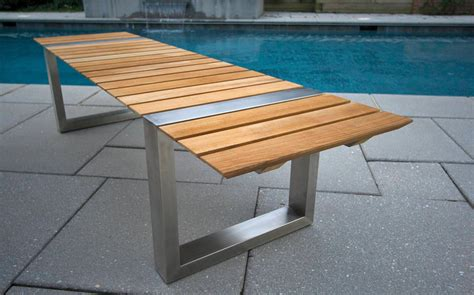 Patio Table With Bench Patio Bench Teak