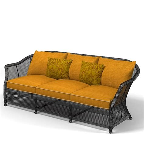 big sofa landscape wicker sofa outdoor 3d model