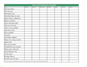 list of household chores daily chores page0001 791 215 1024