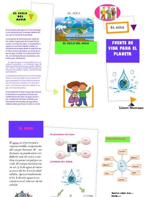 cripticos sobre el cuidado del agua triptico del agua