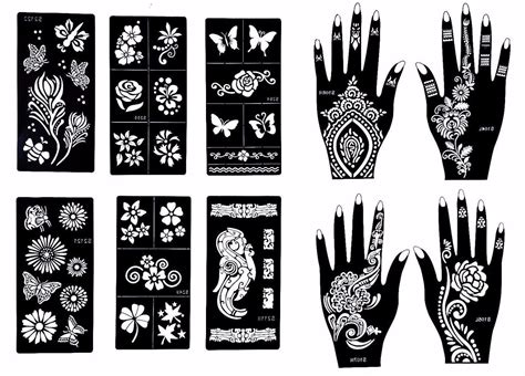 henna tattoo kits with stencils professional pens temporary