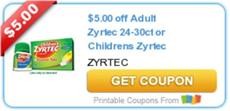 printable zyrtec coupon hot new printable coupons zyrtec schick horizon always