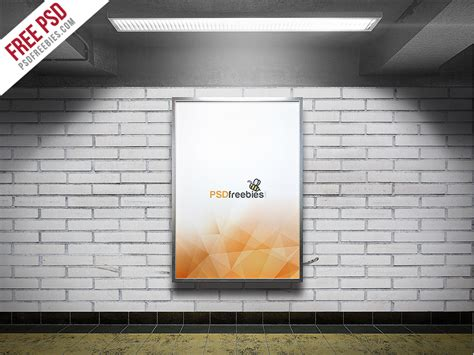 Subway Advertising Billboard Mockup Free Psd Download Download Psd Subway Poster Template