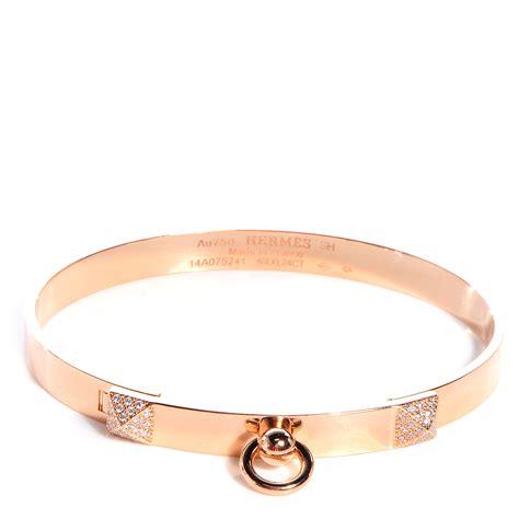 Gelang Hermes Colier De Chien Hermes Bracelet Bangles hermes 18k gold collier de chien pm bracelet small 73916