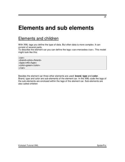 tutorial html kickstart kickstart tutorial xml