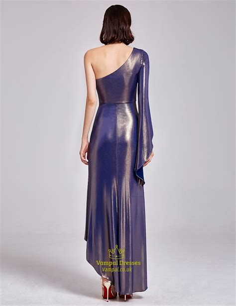 Sleeve Asymmetrical Dress one shoulder asymmetrical high low cocktail dresses with