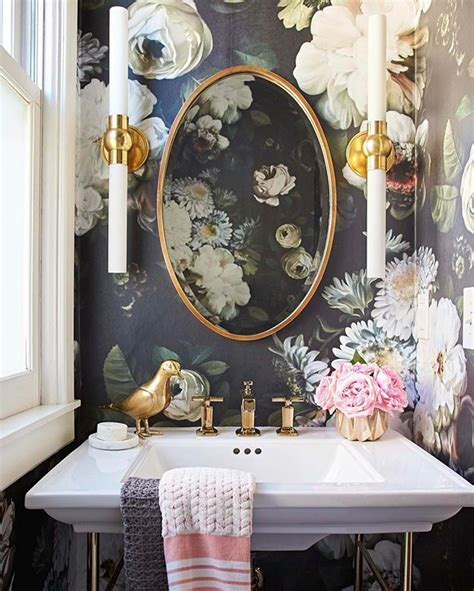 feeling romantic large scale floral wallpaper  vintage