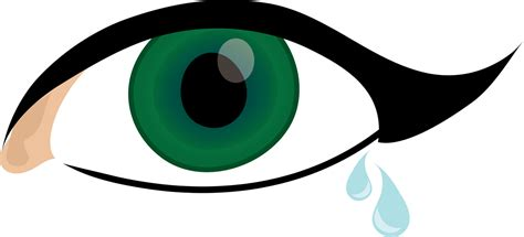 Sheds Tear by Eye Clipart