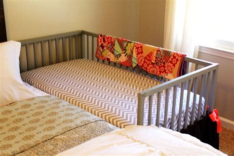 Co Sleepers That Attach To Your Bed by Our Diy Co Sleeping Crib Amanda Medlin
