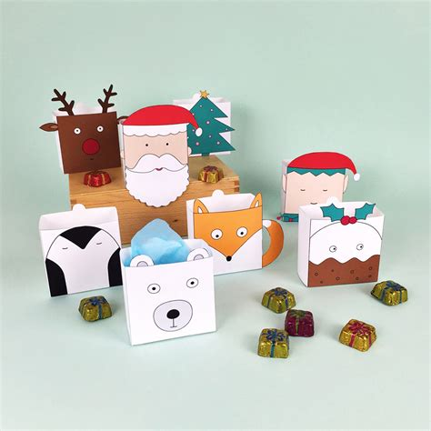 cute printable christmas decorations cute free printable christmas holiday favor boxes