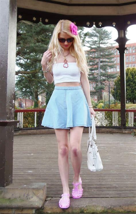 ways to wear a denim skirt glam radar