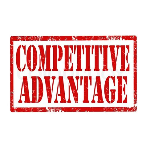 Competitive Advantage grunge rubber st with text competitive advantage vector