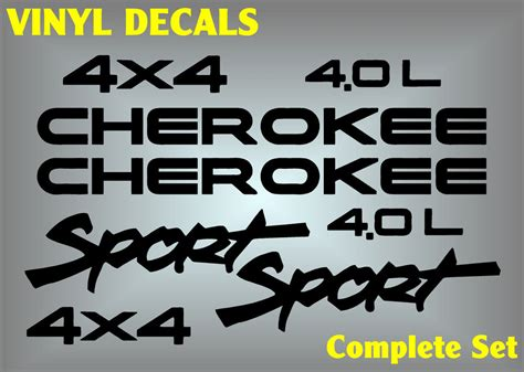 jeep cherokee sticker jeep cherokee sport 4x4 vinyl decal sticker emblem logo