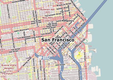 san francisco map vector free vector map of san francisco free vector maps