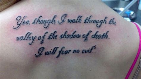 yea though i walk through the valley tattoo bible verse quot yea though i walk through the valley