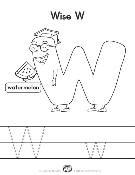 Letter W Worksheets by Page Part 7