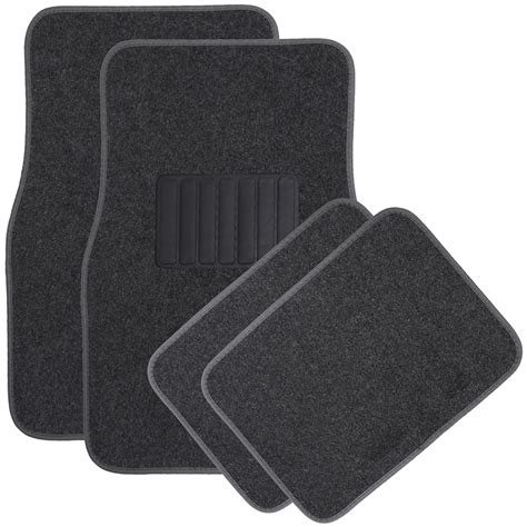 4pc solid color floor mats set universal fit car truck suv